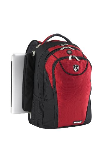 Heys USA Boys Girls Red 14 Inch Padded Combination Laptop Backpack