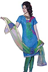 Cenizas embroidered Semi Stich Salwar Suit Duptta ( ASHN 620)