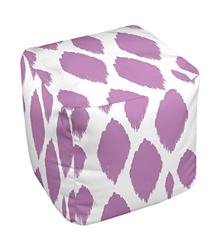 E by design FG-N15-Radiant_Orchid-13 Geometric Pouf