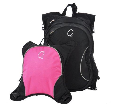 o3 innsbruck diaper bag backpack with detachable cooler black pink designe. Black Bedroom Furniture Sets. Home Design Ideas