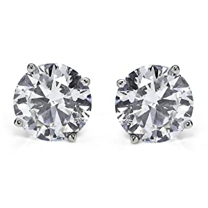 2 ct Diamond stud Earring 14k gold
