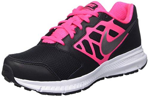 Nike Downshifter 6 (Gs/Ps) Scarpe Sportive, Ragazza, Blk/Mtllc Slvr-Hypr Pnk-White, 38