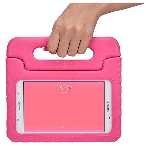 Cooper Cases(TM) Dynamo Custodia Samsung Galaxy Tab 4 8.0(T330) per Bambini in Rosa + Protezione dello Schermo Gratuita (Leggero, Antiurto, Imbottitura in EVA a Prova di Bambino, Maniglia Incorporata e Supporto per Visualizzazione)