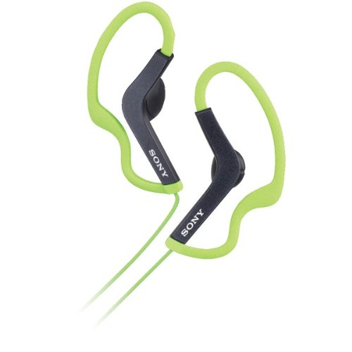 Sony Mdras200G Lightweight Clip-On Headphones For Active Sports (Green)