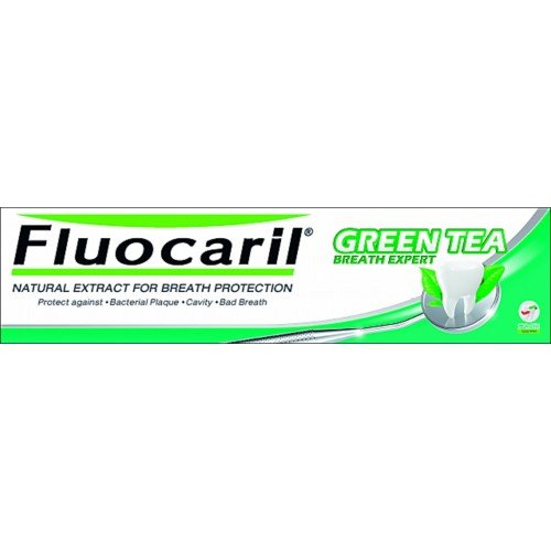 Fluocaril Green Tea Double Guava Leaf Breath Expert Toothpaste 160 G From Thailand