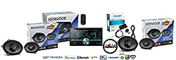 See Kenwood DPX500BT in Dash Double Din CD Receiver with SiriusXM Satellite Radio SXV200v1 and two pair of KFC-C5795PS Speakers Package Details