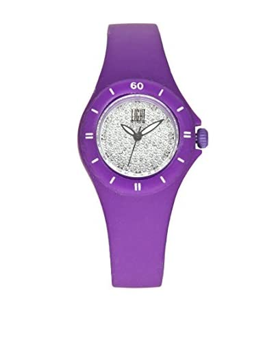 Light Time Reloj Silicon Small Strass Morado
