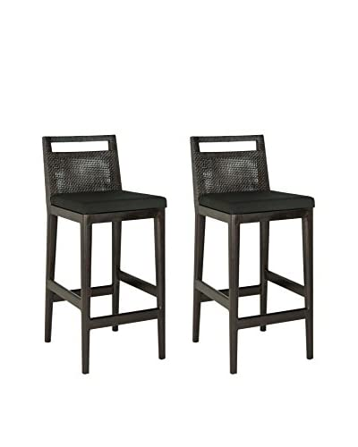 Safavieh Set of 2 Darin Barstool, Black/Black