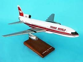 G6310 Executive Desktop Twa L-1011 1/100 Red Stripe Livery Model