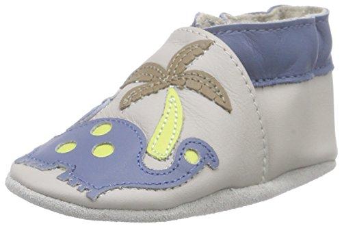 RobeezDINOS CLUB - Scarpine e pantofole primi passi  Unisex - Bimbi 0-24 , Grigio (Grau (GRIS CLAIR)), 19/20