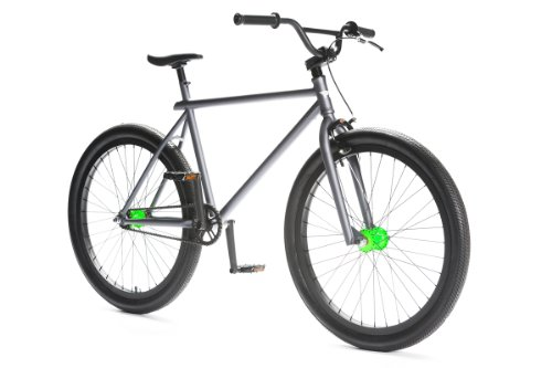 Pure Fix Cycles The Bogey Fixed Gear Freestyle Bike (Grey/Black, One Size)