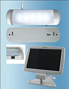 Solar Powered LED Shed Light (702) Light up your garden.