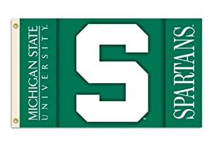 Buy NCAA Michigan State Spartans 2-Sided 3-by-5 Foot Flag with Grommets by BSI