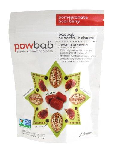 Baobab Superfruit Chews® By Powbab - 750Mg Antioxidant Baobab, 30-Count