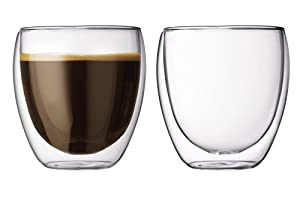 Bodum Pavina 8.5-Ounce Double-Wall Thermo Tumber/DOF Glass, Set of 2