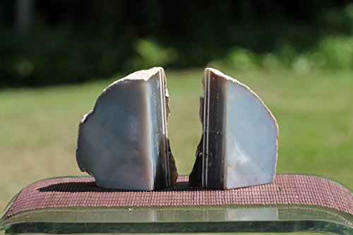 Decorative Agate Crystal Bookends