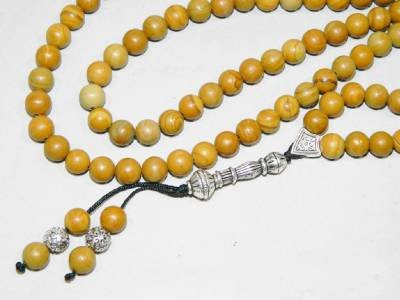 A2-0304 Traditional Prayer Worry Beads - 99 x Wood Jasper Gemstone Beads - Handmade by Jeannieparnell