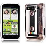 Perfect Case ® PREMIUM Hard Case im Retro Tape Kassetten transparent Design für Motorola Defy / Defy+ Smartphone
