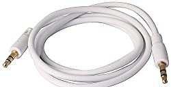 Aux Audio Cable, Car Audio Cable, Colorful Noodle round Style Audio Cable . Stereo AUX Cable [male to male cablel - white