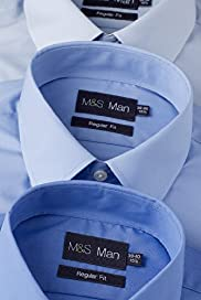 "3 Pack 2"" Longer Easycare Classic Collar Shirts"