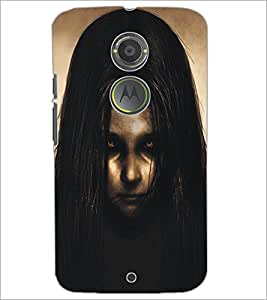 PrintDhaba Scary Girl D-5300 Back Case Cover for MOTOROLA MOTO X2 (Multi-Coloured)