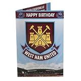 West Ham United FC. Musical Birthday Card