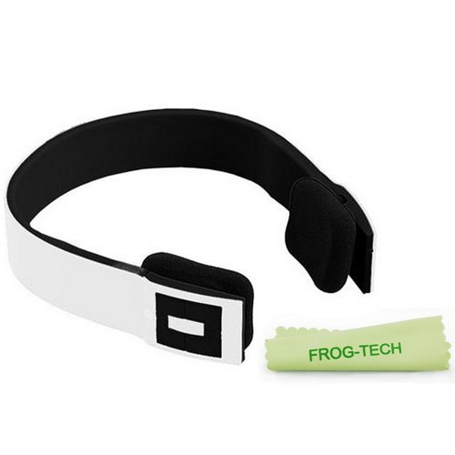 Frog-Tech White Bluetooth Wireless Stereo Headphones/Headset With Built-In Mic, Bluetooth V2.1+Edr Supports A2Dp, Noise Cancellation, Over-Head Style ,Compatible With Bluetooth Enabled Devices Inc Iphone, Ipad, Computers & Tablets