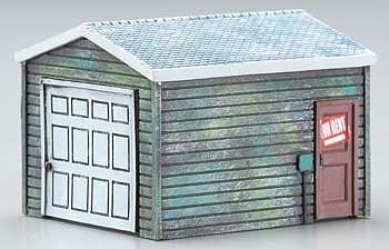 Single Car Garage HO Scale Train Building