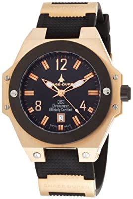 Chase-Durer Men's 777.8BB Conquest Automatic COSC 18K Rose Gold-Plated Watch