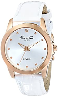 buy Kenneth Cole New York Women'S Kc2857 Rock Out Analog Display Japanese Quartz White Watch