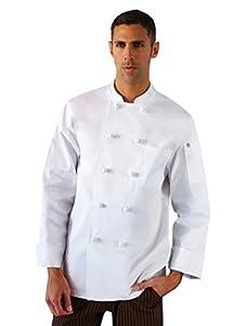 Amazon.com: Chef Works Colmar Basic Chef Coat XSM / White: Kitchen