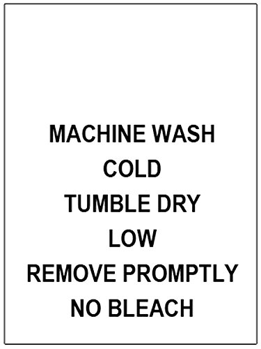 100 PRINTED CLOTHING LABELS, Care Labels (Machine Wash Cold…)