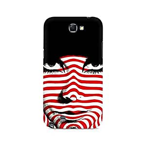 Ebby Red Striped Girl Premium Printed Case For Samsung Note 2