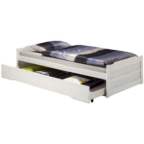 kojenbett auszugsliege tandenbett larissa 90x200 wei. Black Bedroom Furniture Sets. Home Design Ideas