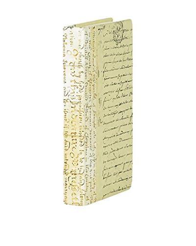 Go Home Script Gold Leaf Book, Ivory/Gold