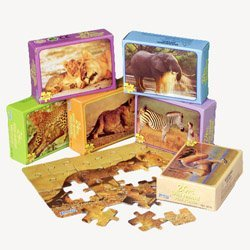 Mini Wild Animal Puzzles (1 Dozen) - Bulk
