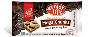Enjoy Life  Semi Sweet Mega Chunks, 10-Ounce (Pack of 6)