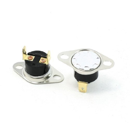 Water & Wood 2 Pcs Nc Soldering Type 95C Temperature Control Thermostat Swtich 10A Ac250V
