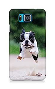 Amez designer printed 3d premium high quality back case cover for Samsung Galaxy Alpha (BostonTerrier)