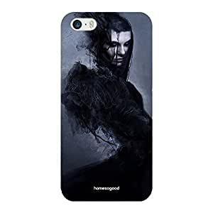 HomeSoGood Gothic Smokescreen Grey 3D Mobile Case For iPhone 5 / 5S (Back Cover)