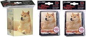 Ultra-Pro Shibe Doge Deck Box + 100 Sleeves Set (fits Magic/MTG, Pokemon Cards)