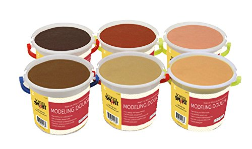 school-smart-modeling-dough-set-of-6-multicultural-colors