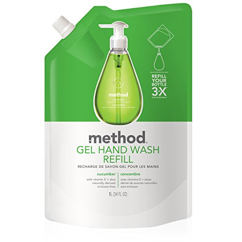 Method Gel Hand Wash Refill, Cucumber, 34 Ounce (Pack of 6) (Method Dish Detergent Refill compare prices)