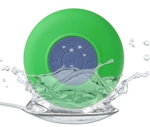 Sunnice® Bts-06 Mini Portable Waterproof Bluetooth Wireless Stereo Shower Speakers With Suction Cup For All Devices With Bluetooth Capability + Siri Compatible / With Built-In Mic Powerful Handsfree Speakerphone (Green)