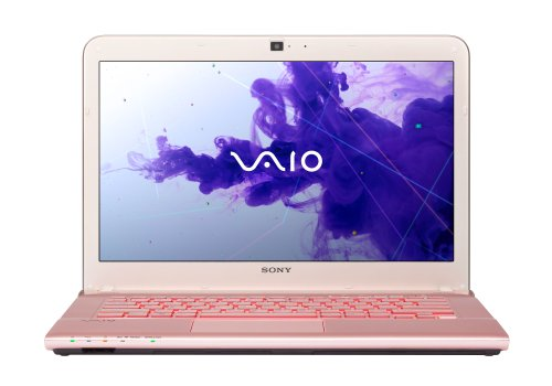 Sony Vaio SVE14A2M6EP.G4 35,8 cm (14,1 Zoll) Notebook (Intel Core i3 3110M, 2,4GHz, 4GB RAM, 500GB HDD, Radeon HD 7650M, DVD, Win 8) pink
