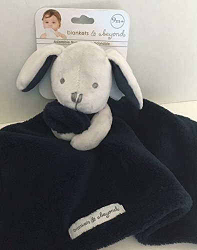 5e5e92f429 Blankets   Beyond Grey Bunny with Navy Blue Security Blanket
