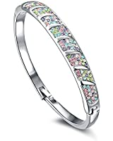 VIKI LYNN - Bracelet femme fille Bracelet jonc Bijoux fantaisie Zirconium cristal Eléments multicolore