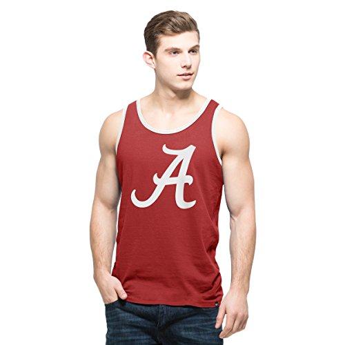 NCAA Alabama Crimson Tide Men's '47 Crosstown Tank Top, X-Large, Cardinal