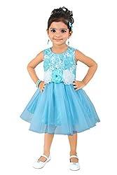 Littleopia Light Blue Party Wear Dress