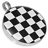 Urban Male Black and White Checkerboard Pendant